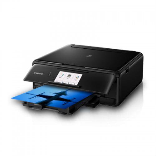 Canon PIXMA TS8170 Black | Wireless All-In-One / Large 4 3 inch  Touch-Screen / Auto Duplex Printing - Pearlblue Tech